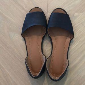 Navy slip on shoes